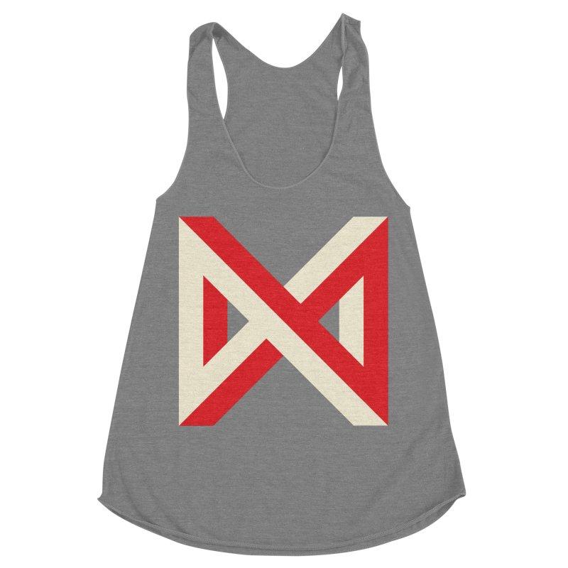 Max Marcil Logo Women's Racerback Triblend Tank by Max Marcil Design & Illustration Shop