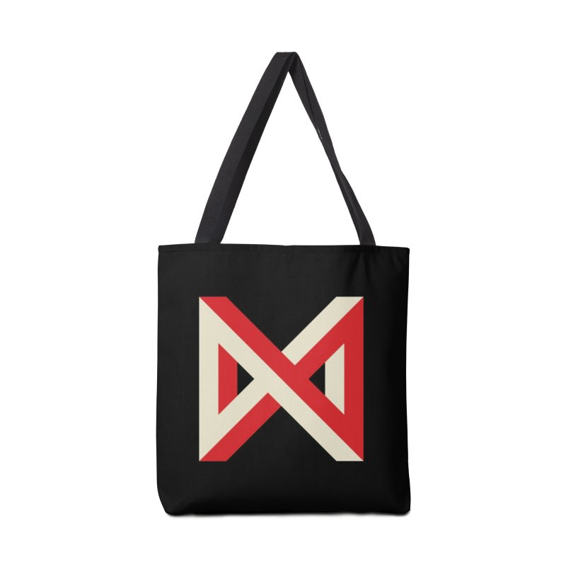 Max Marcil Logo (Red & Cream) Accessories Tote Bag Bag by Max Marcil Design & Illustration Shop