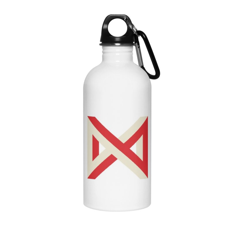 Max Marcil Logo (Red & Cream) Accessories Water Bottle by Max Marcil Design & Illustration Shop