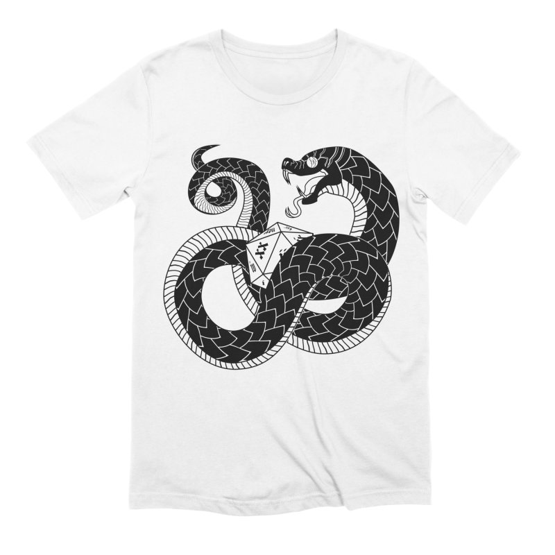 D20 Serpent Men's T-Shirt by Max Marcil Shop