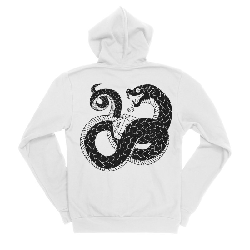 D20 Serpent Everyone Zip-Up Hoody by Max Marcil Shop