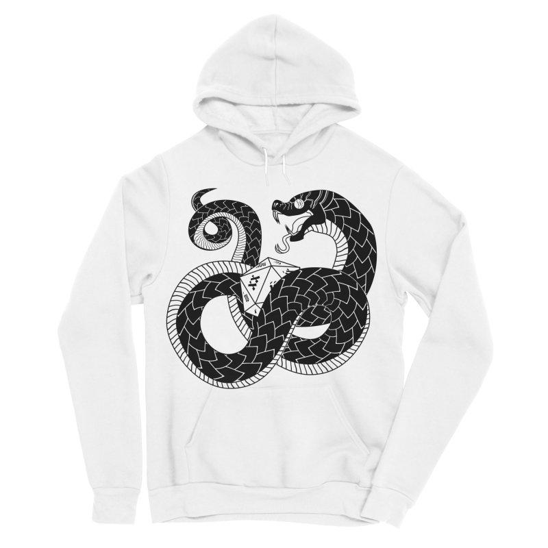 D20 Serpent Women's Sponge Fleece Pullover Hoody by Max Marcil Design & Illustration Shop