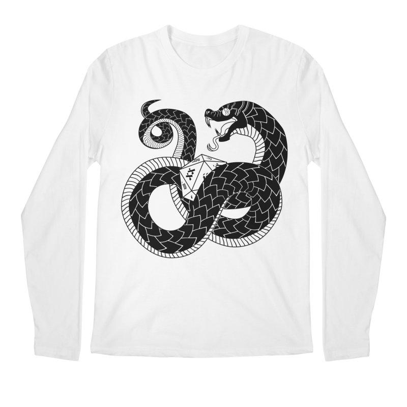 D20 Serpent Men's Regular Longsleeve T-Shirt by Max Marcil Design & Illustration Shop
