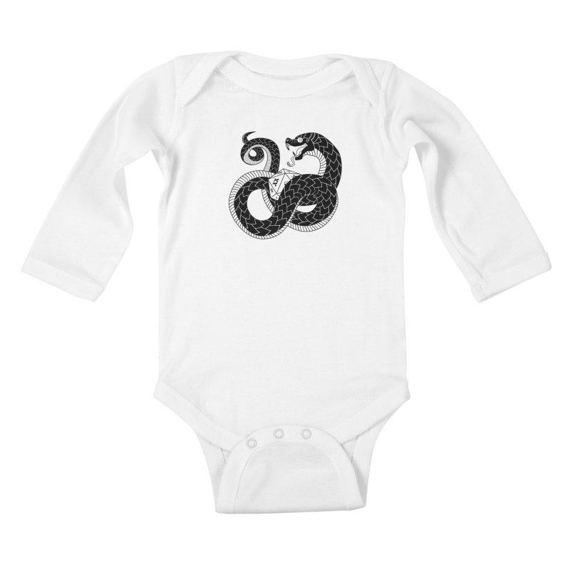 D20 Serpent Kids Baby Longsleeve Bodysuit by Max Marcil Design & Illustration Shop