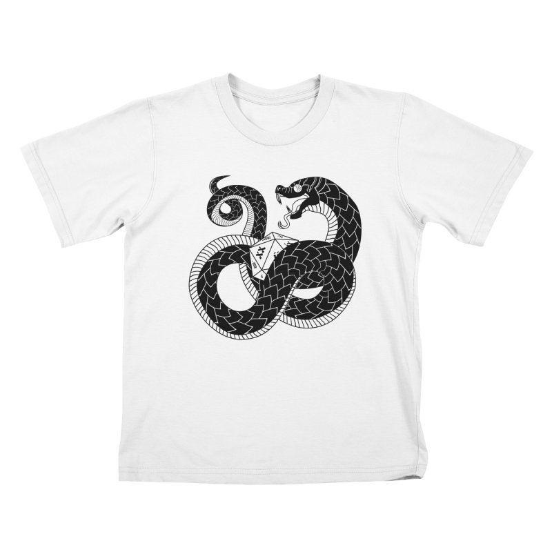 D20 Serpent Kids T-Shirt by Max Marcil Shop