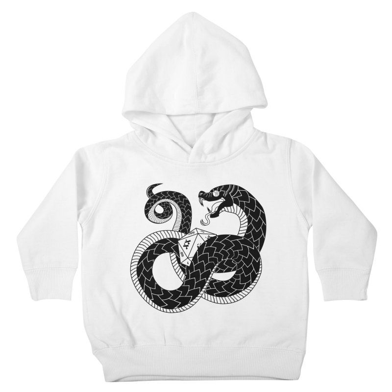 D20 Serpent Kids Toddler Pullover Hoody by Max Marcil Design & Illustration Shop