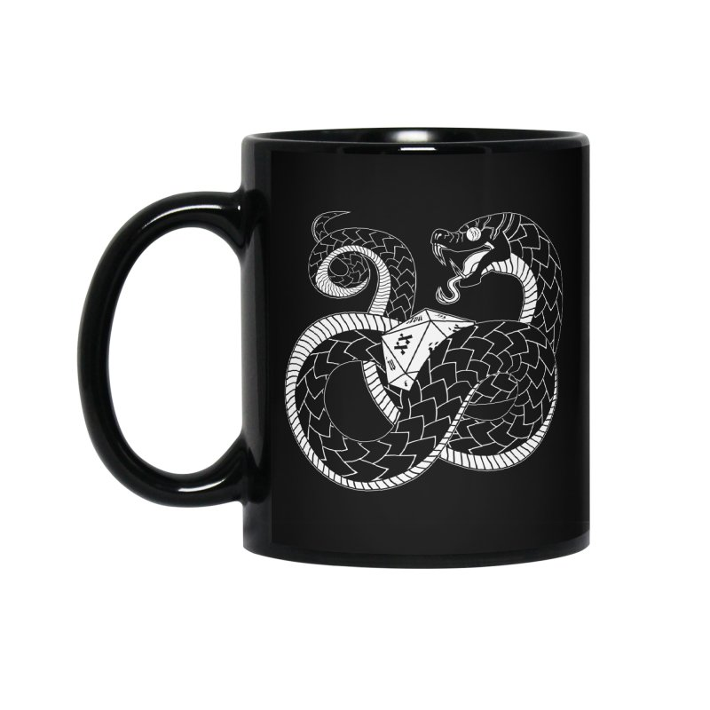D20 Serpent Accessories Standard Mug by Max Marcil Design & Illustration Shop