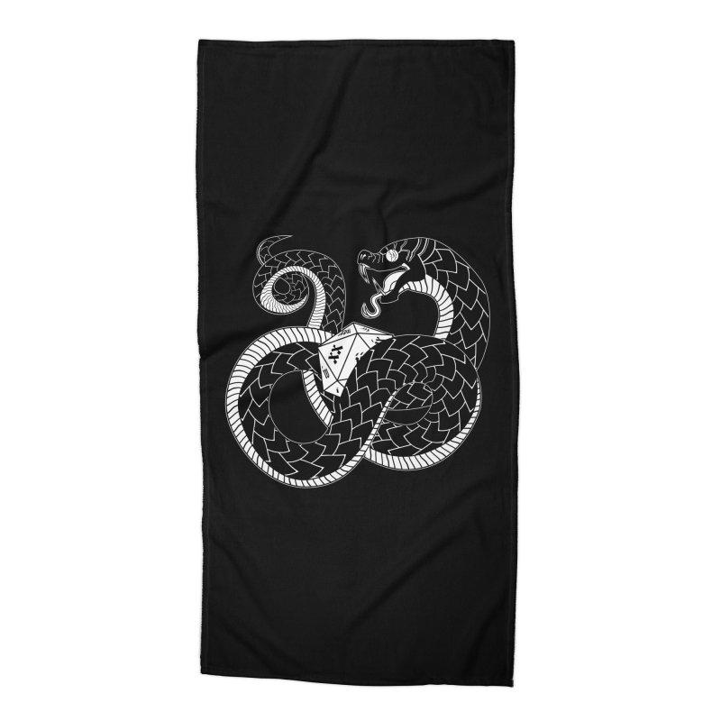 D20 Serpent Accessories Beach Towel by Max Marcil Shop