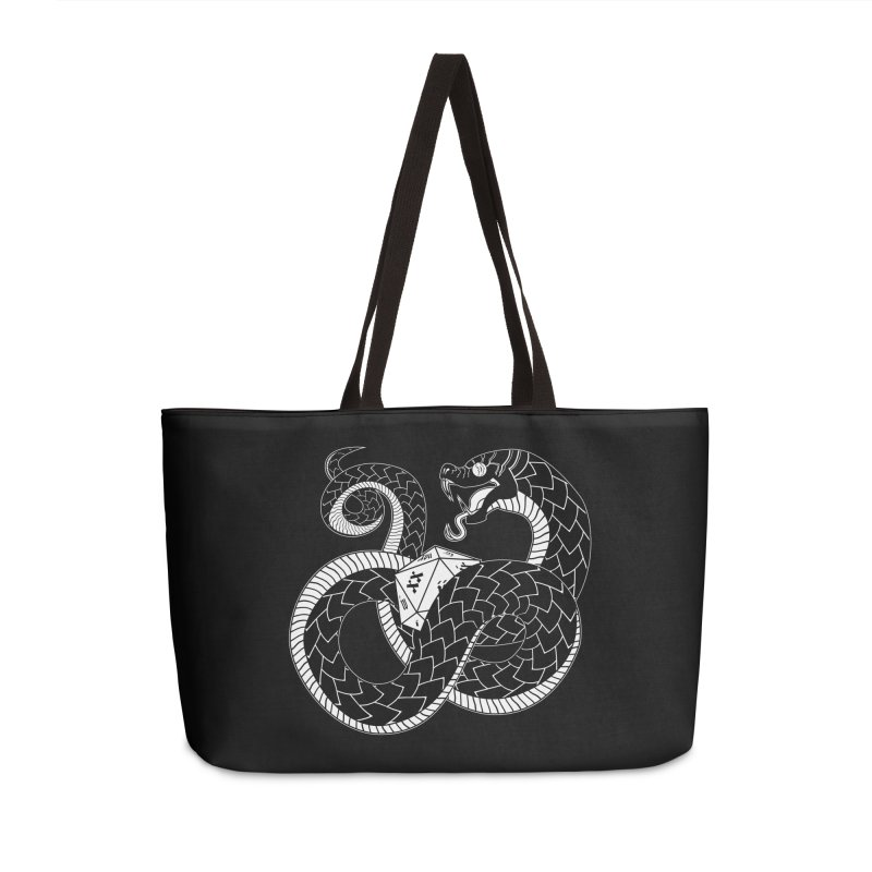 D20 Serpent Accessories Weekender Bag Bag by Max Marcil Shop