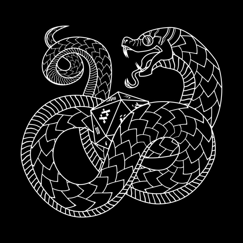 D20 Serpent (White)   by Max Marcil Design & Illustration Shop