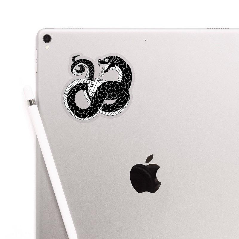 D20 Serpent Accessories Sticker by Max Marcil Design & Illustration Shop