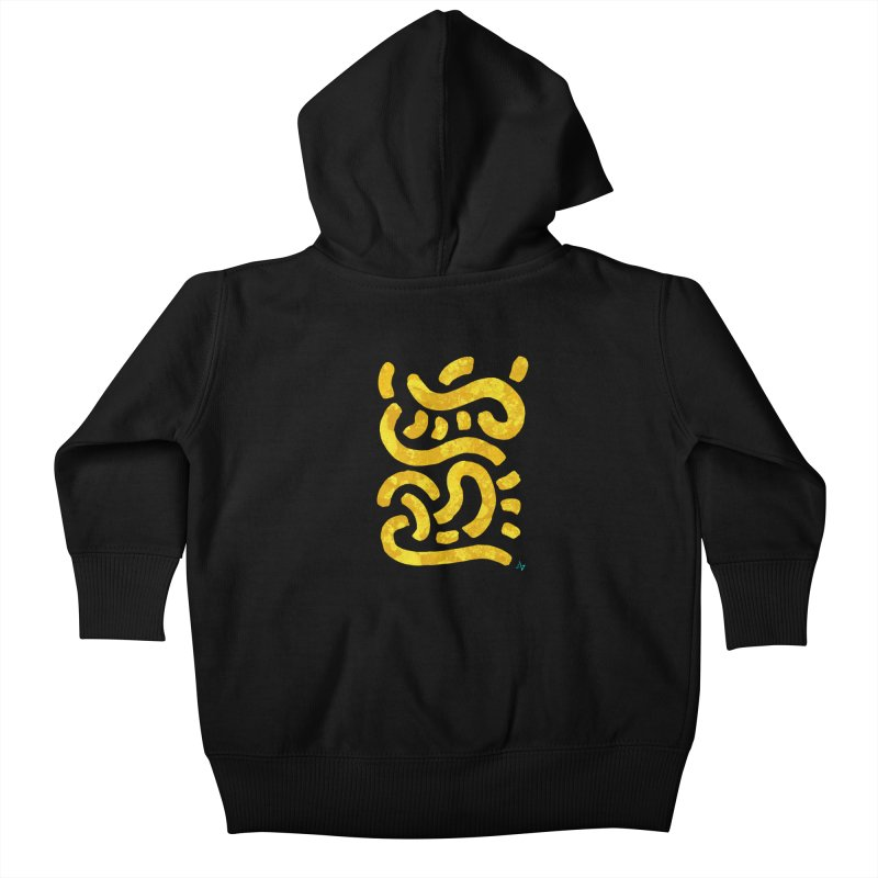 Wiggles (Yellow Lichen) Kids Baby Zip-Up Hoody by Max Marcil Design & Illustration Shop