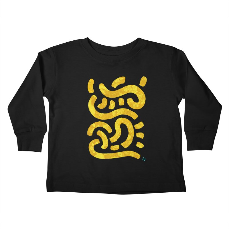 Wiggles (Yellow Lichen) Kids Toddler Longsleeve T-Shirt by Max Marcil Design & Illustration Shop