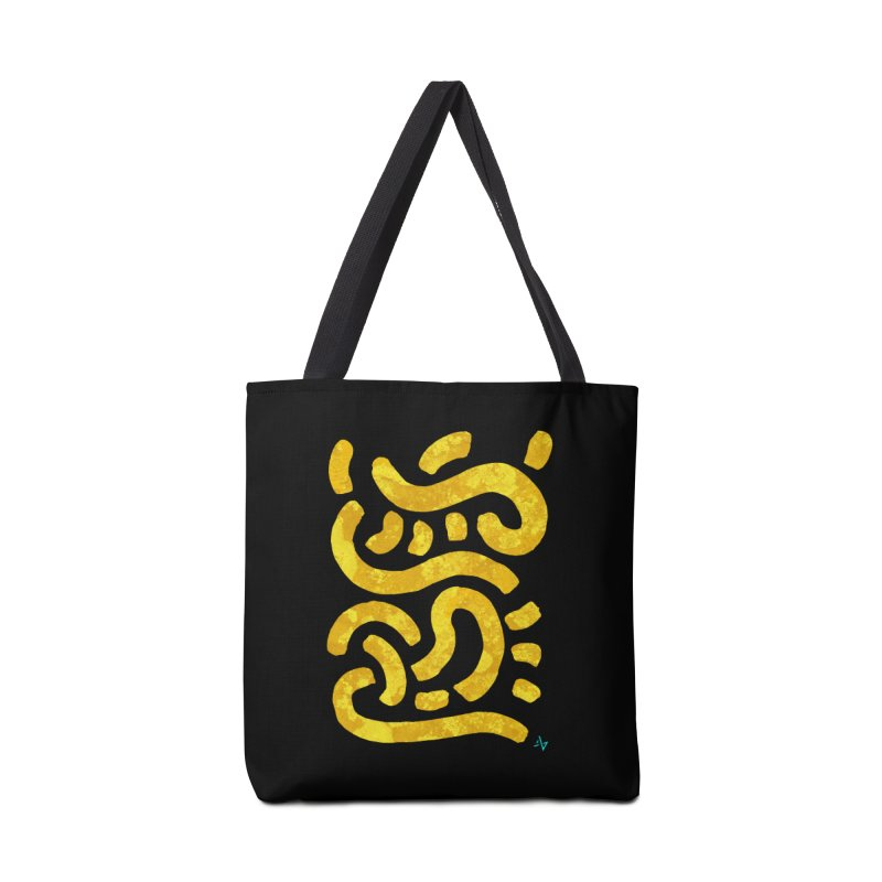 Wiggles (Yellow Lichen) Accessories Tote Bag Bag by Max Marcil Design & Illustration Shop