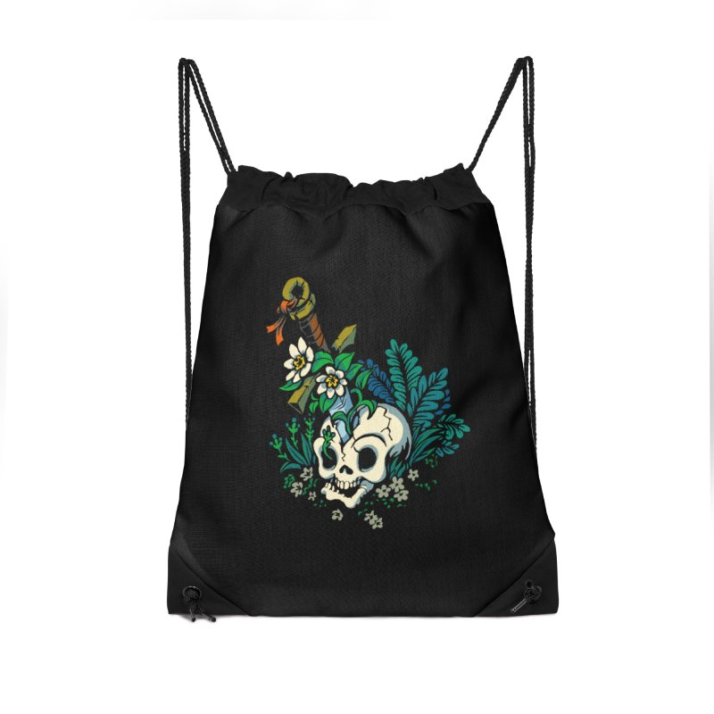Slain Accessories Drawstring Bag Bag by Max Marcil Shop