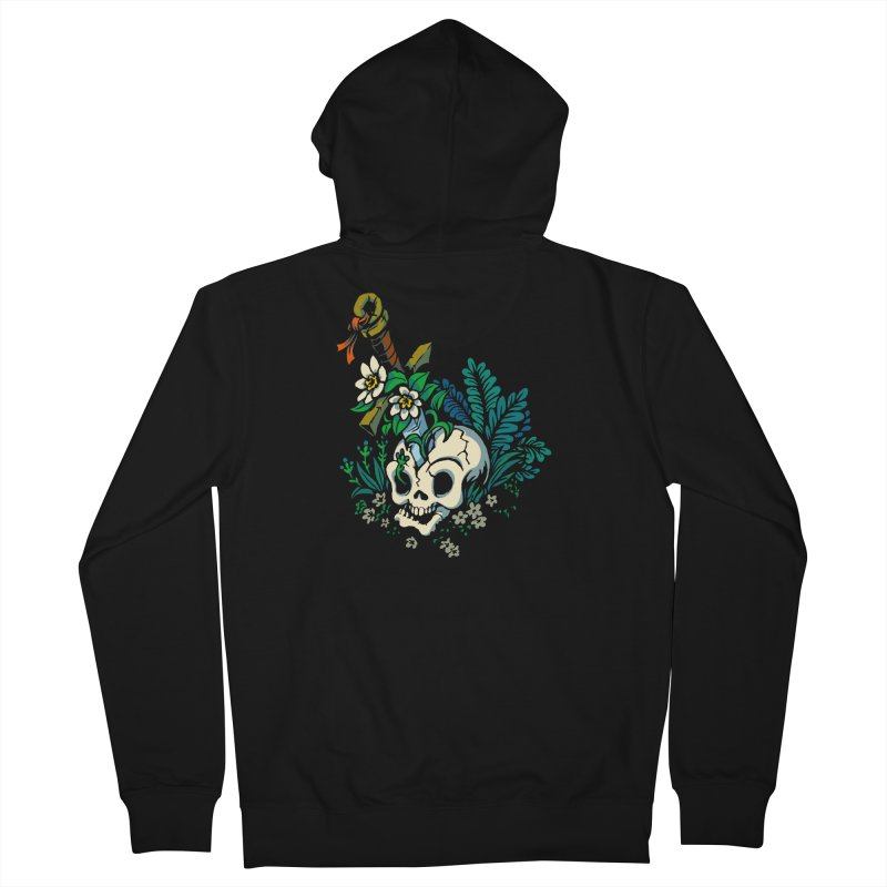Slain Women's French Terry Zip-Up Hoody by Max Marcil Design & Illustration Shop