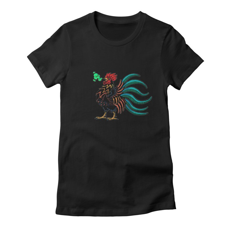 Cocky Women's Fitted T-Shirt by Max Marcil Shop