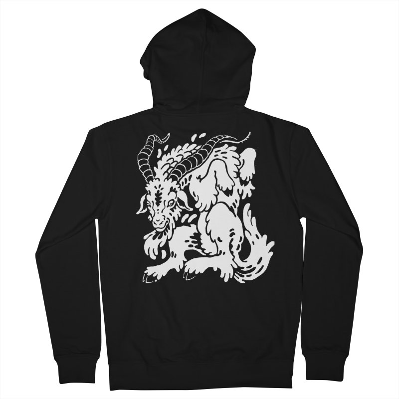 Dancing Goat Women's French Terry Zip-Up Hoody by Max Marcil Design & Illustration Shop