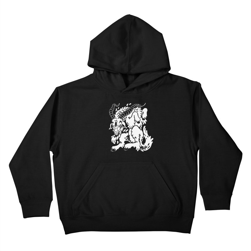 Dancing Goat Kids Pullover Hoody by Max Marcil Design & Illustration Shop
