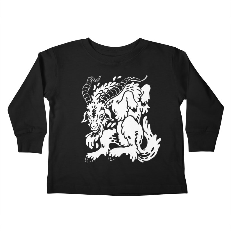 Dancing Goat Kids Toddler Longsleeve T-Shirt by Max Marcil Design & Illustration Shop