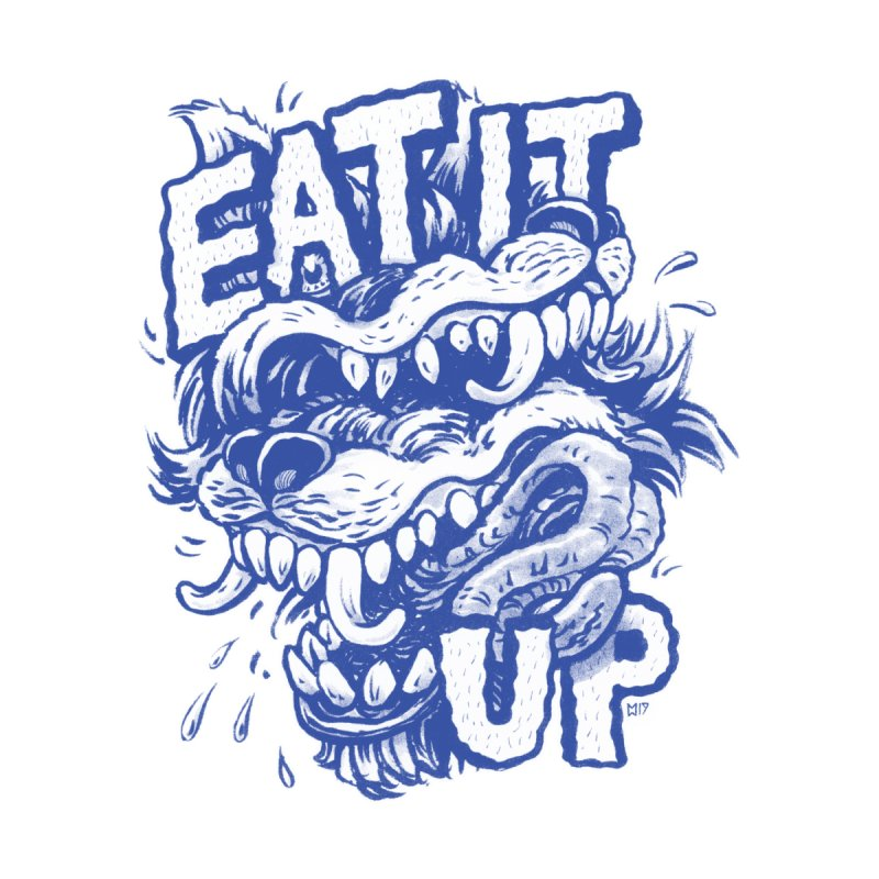 Eat It Up (Blue) Men's T-Shirt by Max Marcil Shop