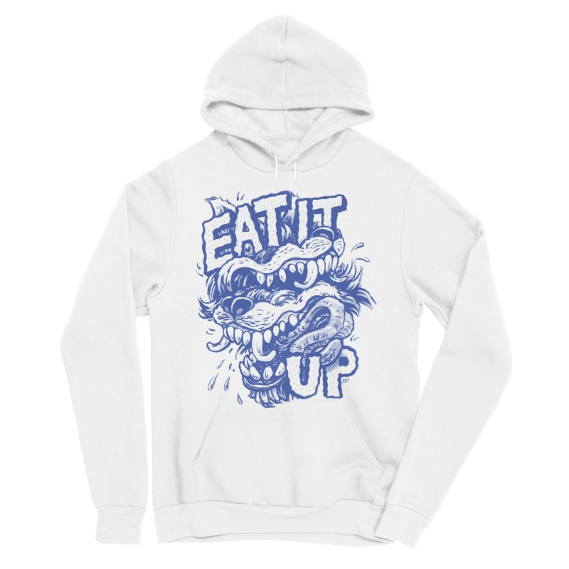 Eat It Up (Blue) Women's Pullover Hoody by Max Marcil Design & Illustration Shop