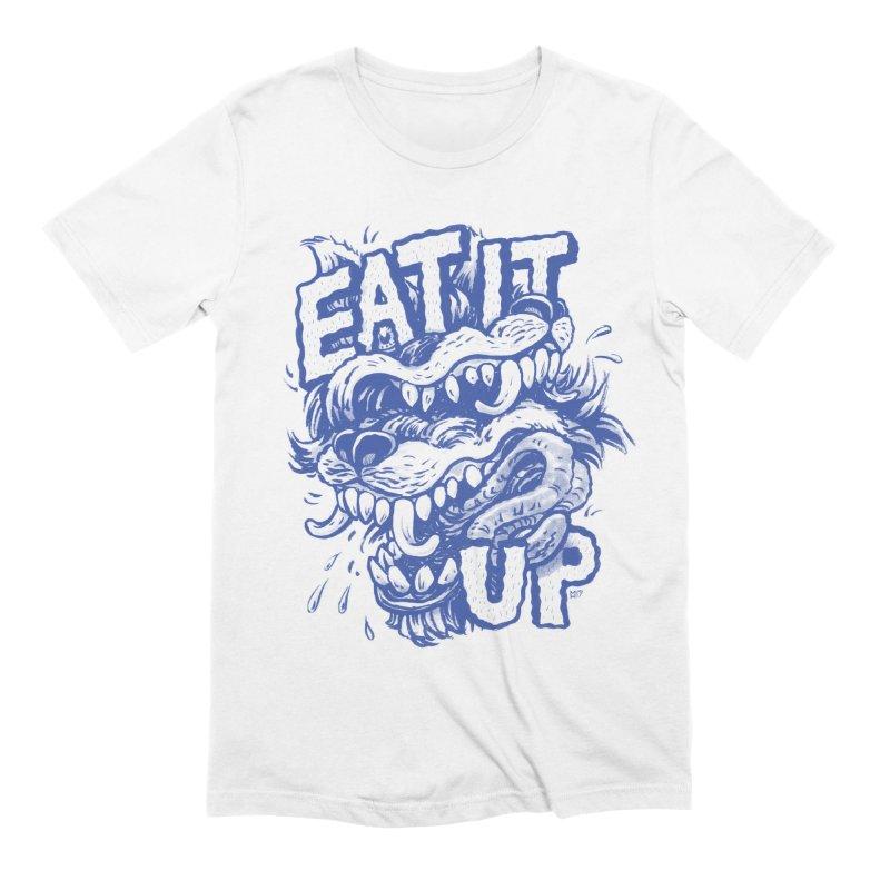 Eat It Up (Blue) Men's Extra Soft T-Shirt by Max Marcil Design & Illustration Shop
