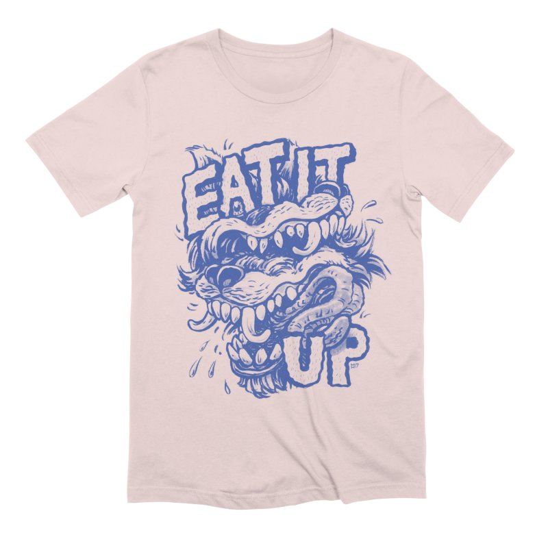 Eat It Up (Blue) Men's Extra Soft T-Shirt by Max Marcil Shop