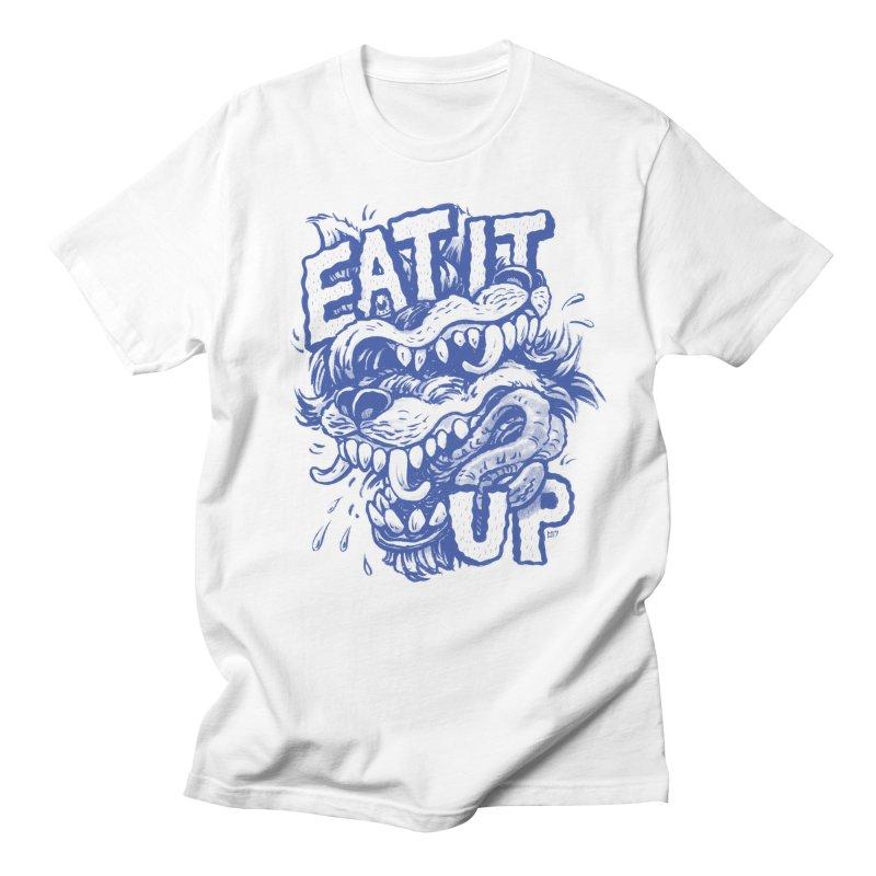 Eat It Up (Blue) Women's Regular Unisex T-Shirt by Max Marcil Design & Illustration Shop