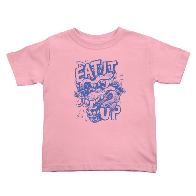 Eat It Up (Blue) Kids Toddler T-Shirt by Max Marcil Design & Illustration Shop