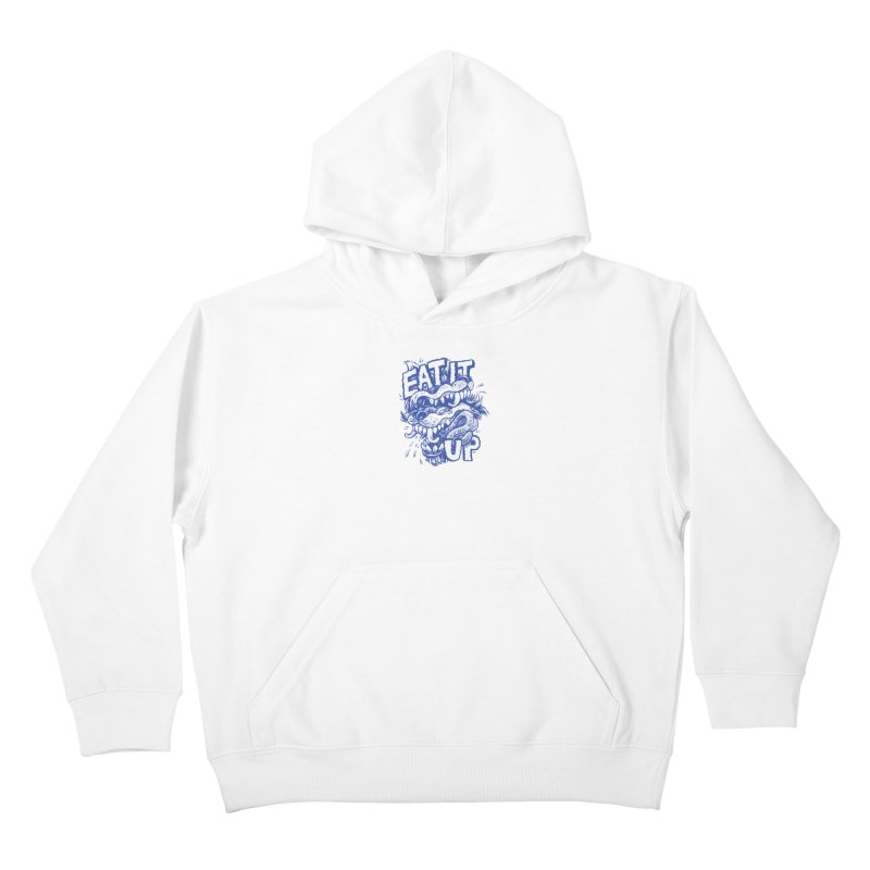 Eat It Up (Blue) Kids Pullover Hoody by Max Marcil Shop