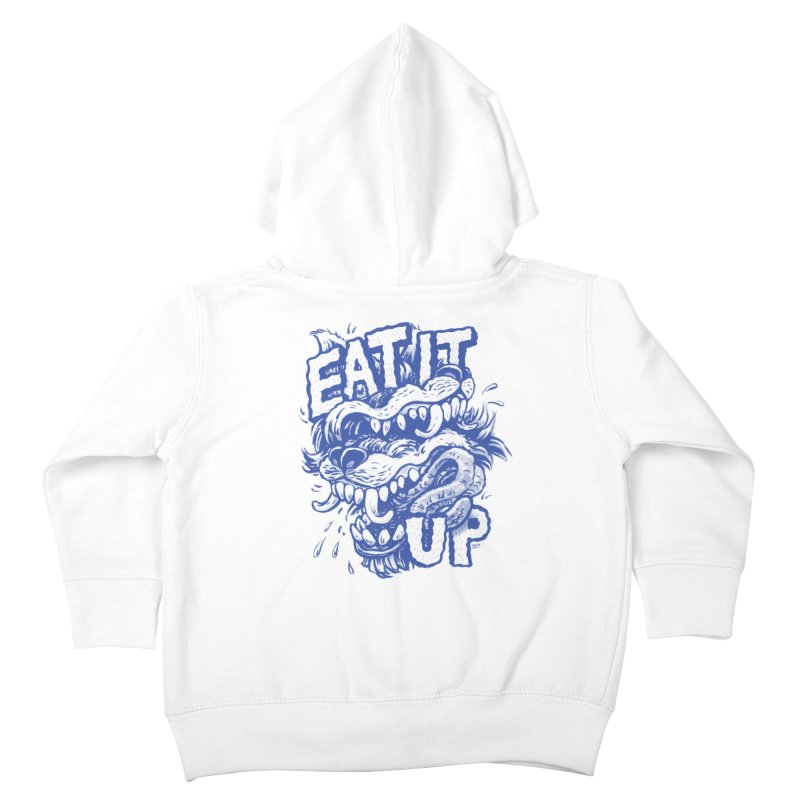 Eat It Up (Blue) Kids Toddler Zip-Up Hoody by Max Marcil Shop