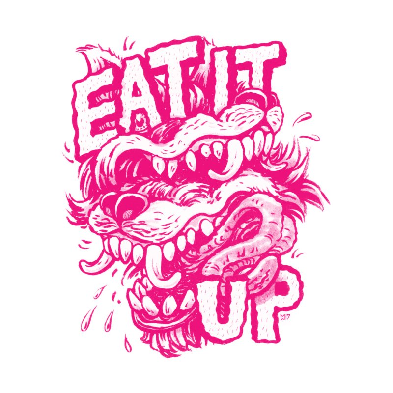 Eat It Up (PINK) Kids Pullover Hoody by Max Marcil Shop