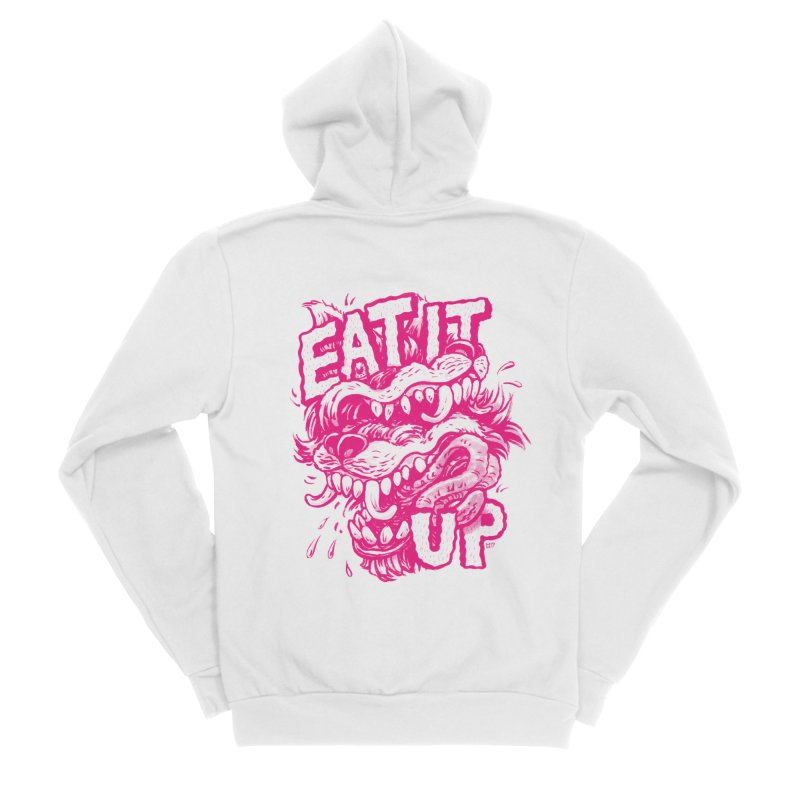 Eat It Up (PINK) Femme Zip-Up Hoody by Max Marcil Shop