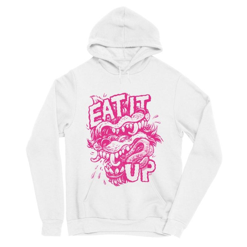 Eat It Up (PINK) Women's Sponge Fleece Pullover Hoody by Max Marcil Design & Illustration Shop