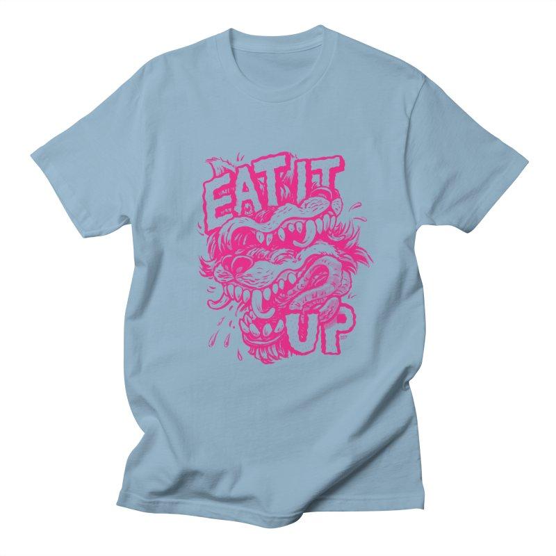 Eat It Up (PINK) Women's Regular Unisex T-Shirt by Max Marcil Design & Illustration Shop