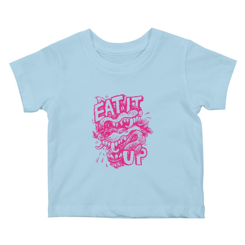 Eat It Up (PINK) Kids Baby T-Shirt by Max Marcil Shop