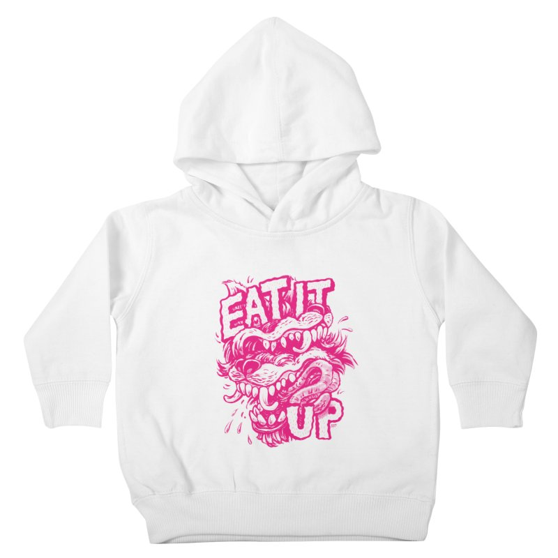 Eat It Up (PINK) Kids Toddler Pullover Hoody by Max Marcil Design & Illustration Shop