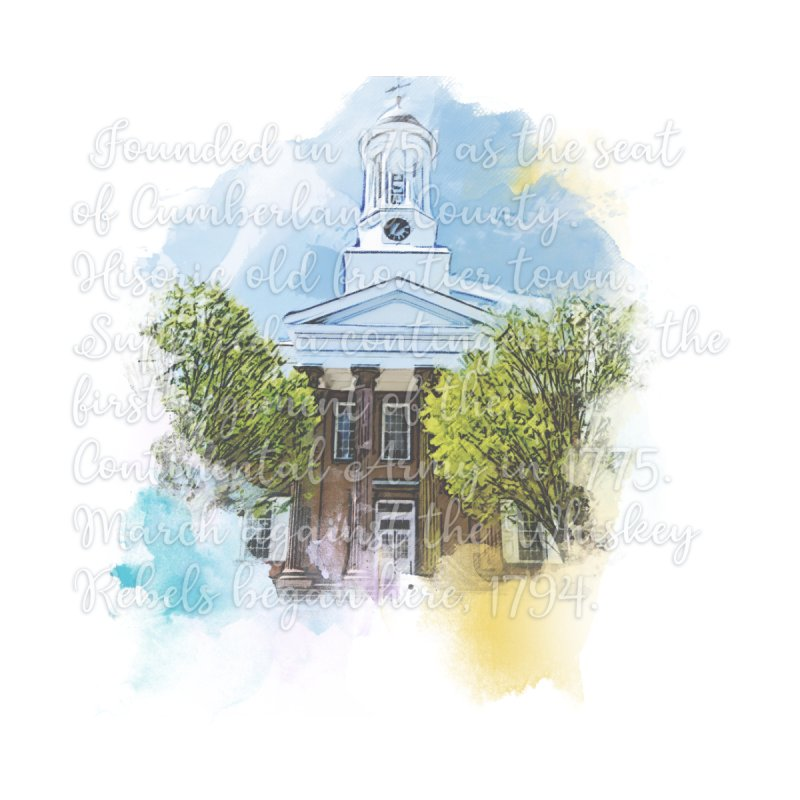 The Old Courthouse (Watercolor) Home Fine Art Print by MaximumCarlisle Souvenirs