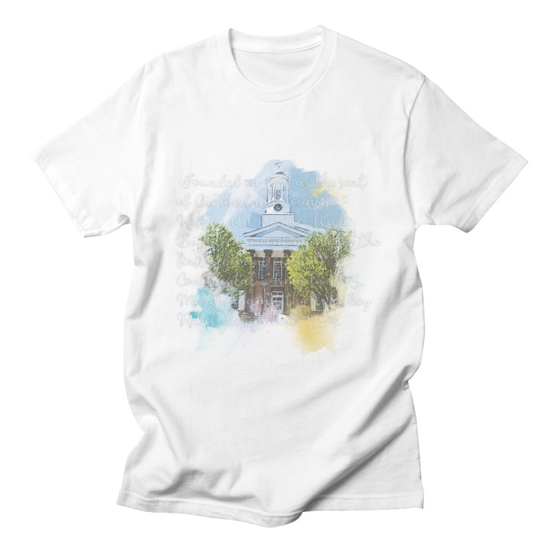 The Old Courthouse (Watercolor) Men's T-Shirt by MaximumCarlisle