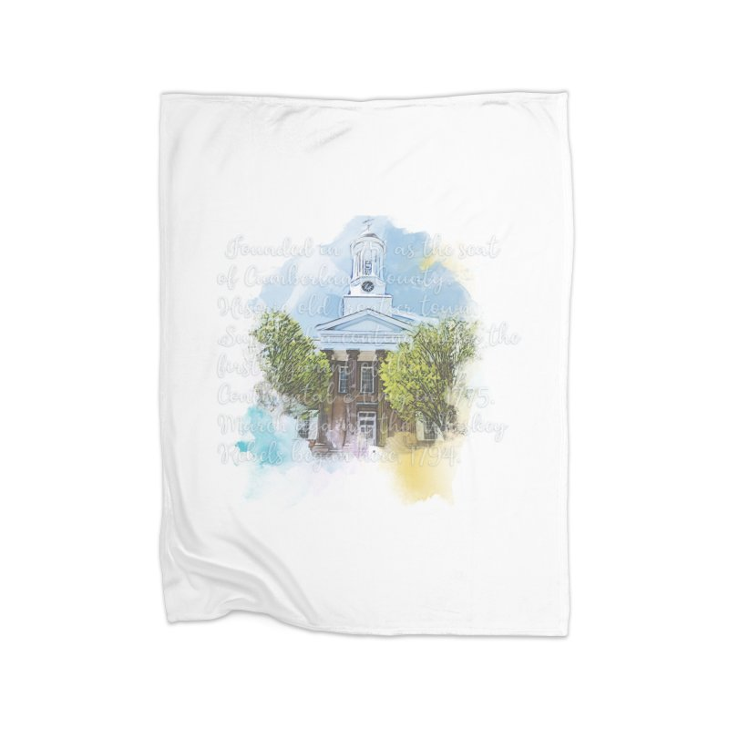 The Old Courthouse (Watercolor) Home Blanket by MaximumCarlisle Souvenirs