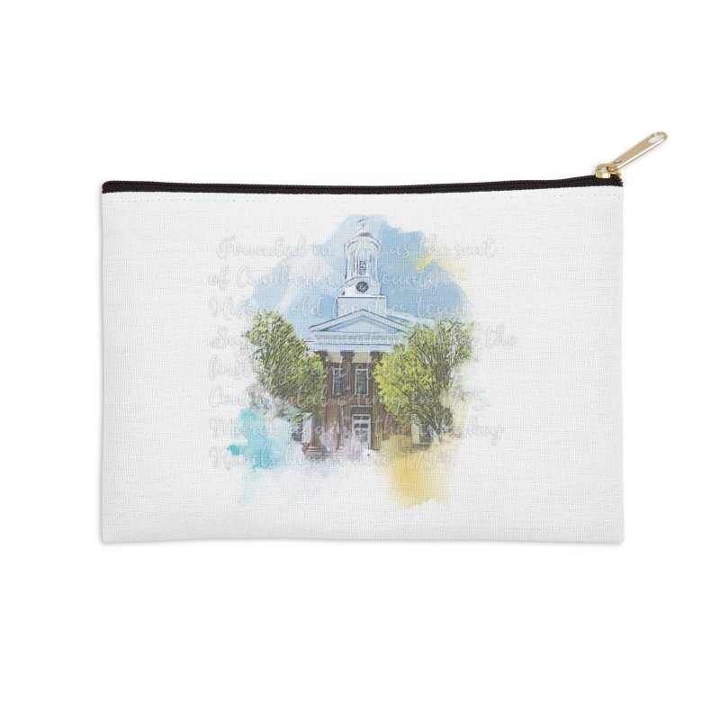 The Old Courthouse (Watercolor) Accessories Zip Pouch by MaximumCarlisle Souvenirs
