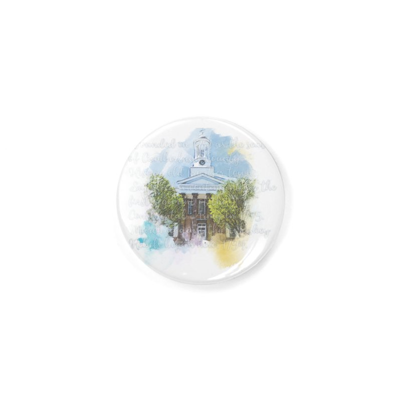 The Old Courthouse (Watercolor) Accessories Button by MaximumCarlisle Souvenirs
