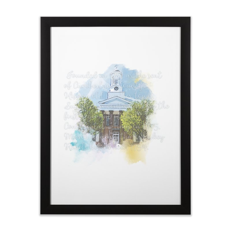 The Old Courthouse (Watercolor) Home Framed Fine Art Print by MaximumCarlisle Souvenirs