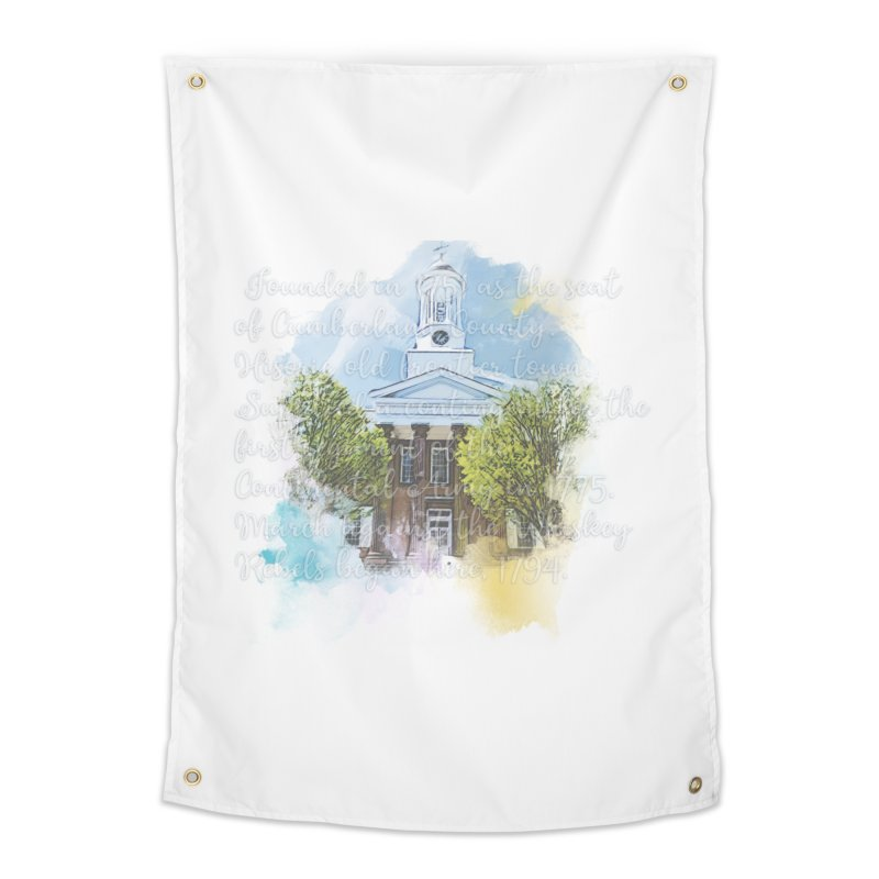 The Old Courthouse (Watercolor) Home Tapestry by MaximumCarlisle Souvenirs