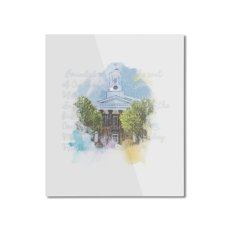 The Old Courthouse (Watercolor) Home Mounted Aluminum Print by MaximumCarlisle Souvenirs