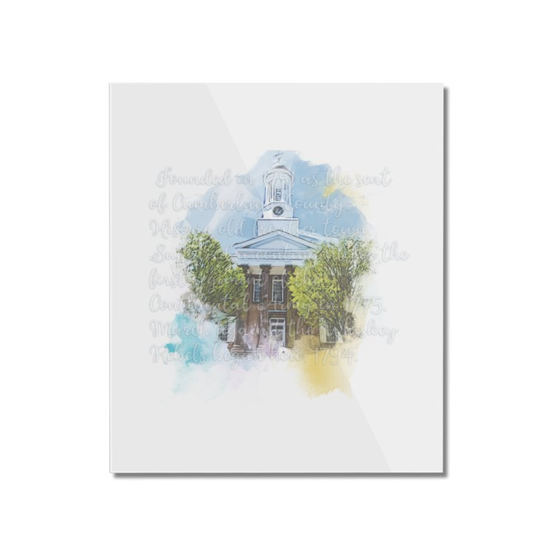 The Old Courthouse (Watercolor) Home Mounted Acrylic Print by MaximumCarlisle Souvenirs