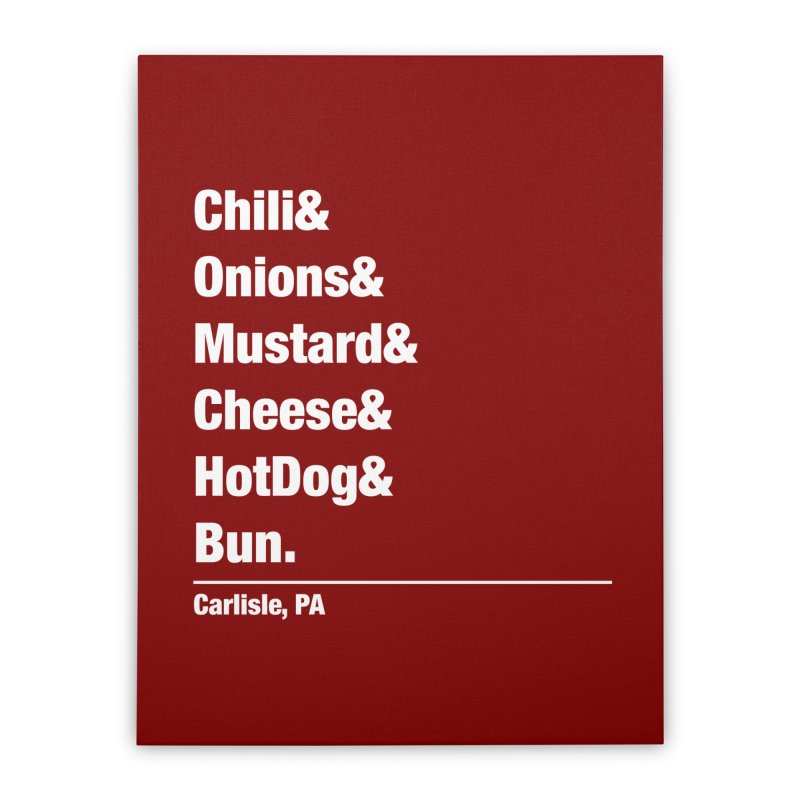 Hot(chee) Dog! Home Stretched Canvas by MaximumCarlisle Souvenirs