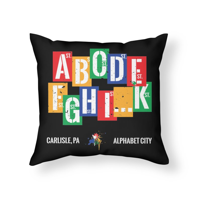 Alphabet City Home Throw Pillow by MaximumCarlisle Souvenirs
