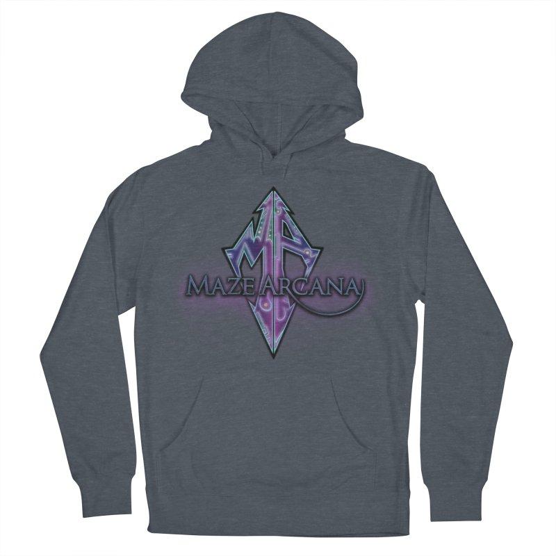 Maze Arcana Logo - Purple Smoke Men's Pullover Hoody by Maze Arcana Shop